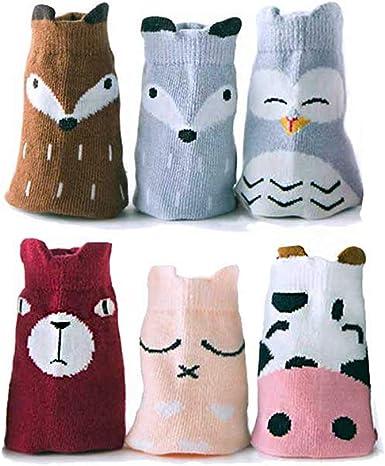 Unisex Baby Thick Animal Cotton Socks Non-skid Floor Sock for Newborn Toddlers
