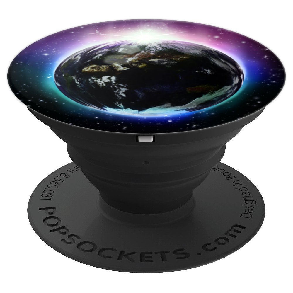 Solar Eclipse Cosmic Universe Galaxy And Stars Phone Grip - PopSockets Grip and Stand for Phones and Tablets