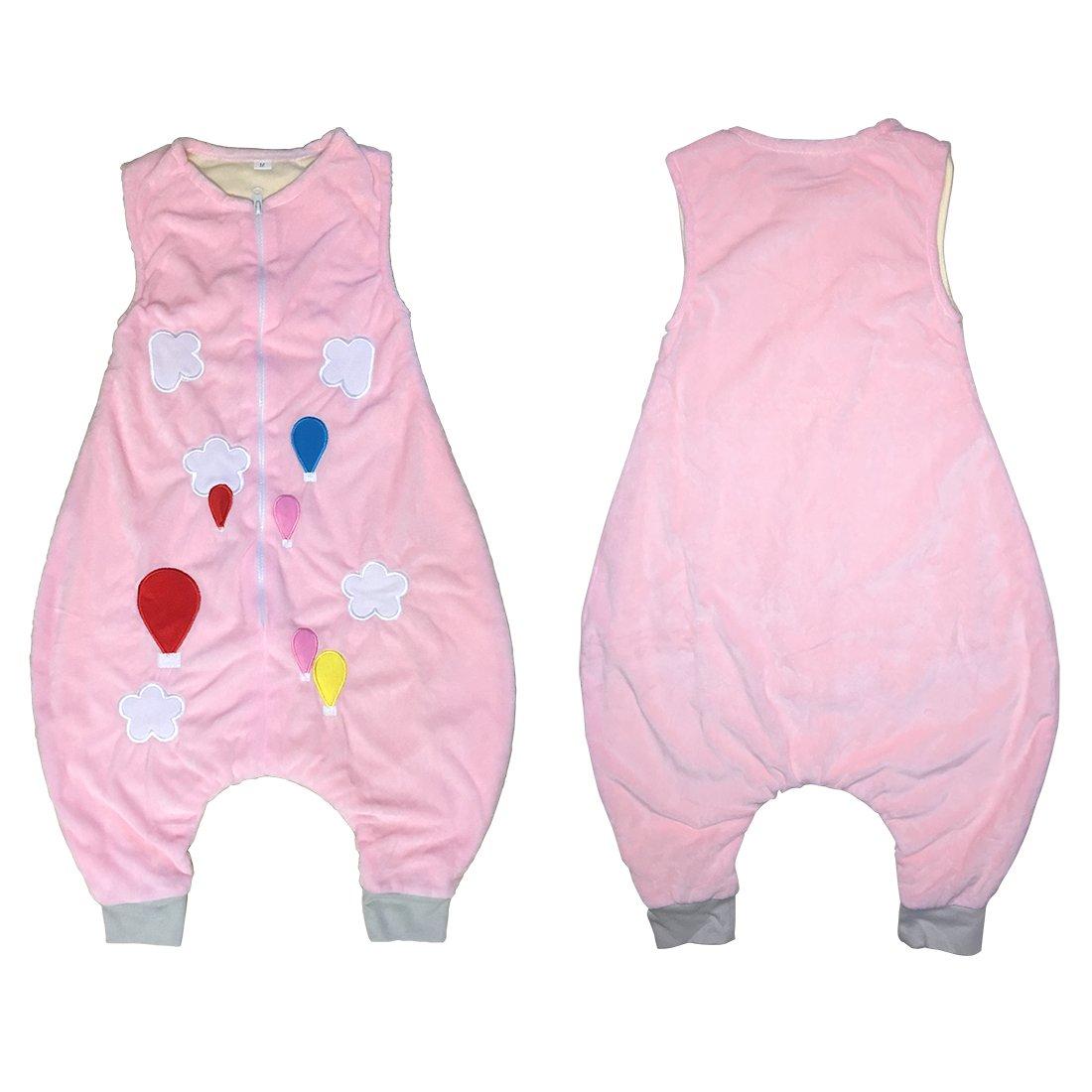231813ae7 ZEEUAPI - Saco de dormir con piernas de franela para bebés niños infantíl  Ropa para dormir (L (5-6 años), Rosa-globo): Amazon.es: Hogar