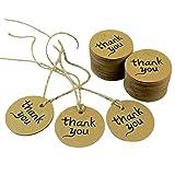 Dxhycc 100PCS Thank You Wedding Brown Kraft Paper