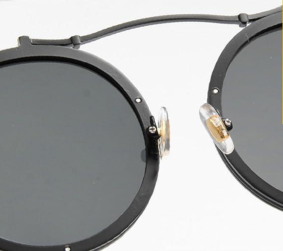 LQABW Occhiali Da Sole Vintage Ispirati Da Occhiali Da Sole Rotondi Con Cerchi In Metallo E Occhiali Da Sole Rotondi Per Donna E Uomo,E