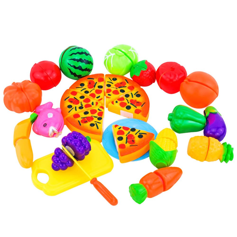 Fruit vegetable cutting toy plastic pretend kitchen for Kitchen set toy kingdom
