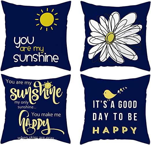 DUSEN Decorative Throw Pillow Covers