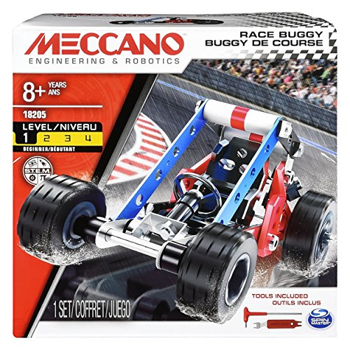 2 Model Buggy Set Erector - Erector by Meccano, Race Buggy Model Vehicle Building Kit, for Ages 8 and up, STEM Construction Education Toy