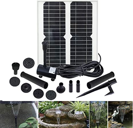 MJLXY Bomba de Agua Solar en Miniatura 18V/30W - Fuente para jardín, Estanque para el Agua - Altura del Ciclo del Agua: máximo 320 cm: Amazon.es: Deportes y aire libre
