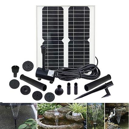 Amazon com: MJLXY Solar Fountain Pump for Birdbath, 30W Solar