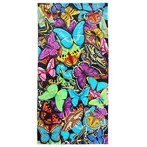 Ben Kaufman Sales 105049 Butterflies Beach Towel, Fiber Reactive, 30 by - Towel Butterfly Beach