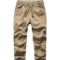 WIYOSHY Pantalones chinos de color sólido con cordón elástico en la cintura para niños