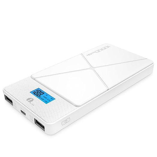 101 opinioni per 1byone 10000 mAh, Caricabatterie Portatile con 2 porte USB, Compatto Caricatore