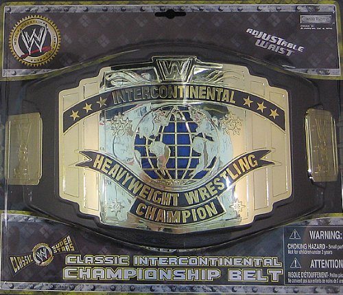 (CLASSIC INTERCONTINENTAL CHAMPIONSHIP KID SIZE WWE TOY WRESTLING BELT)