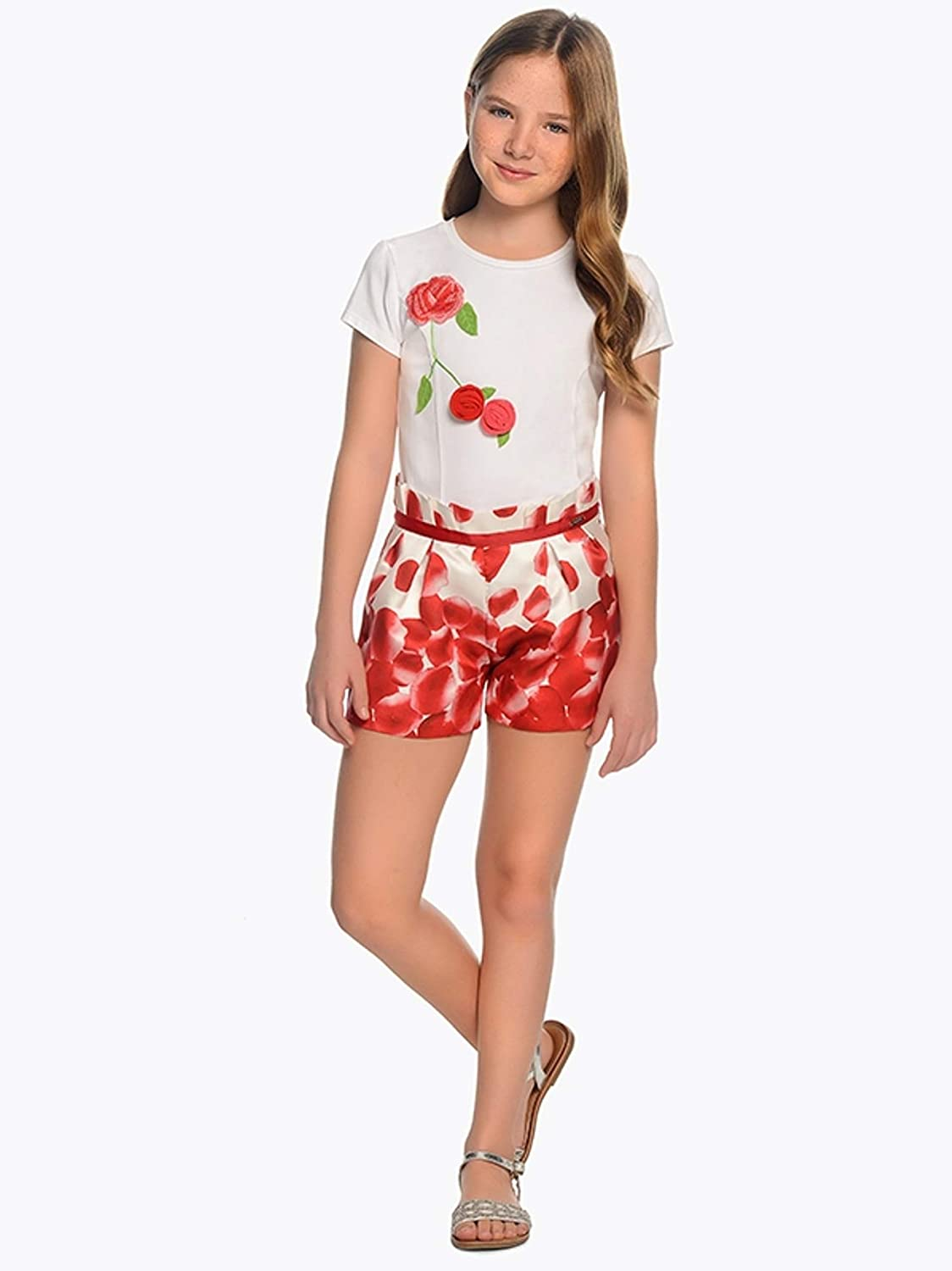 Printed Shorts for Girls Mayoral 6202 Red