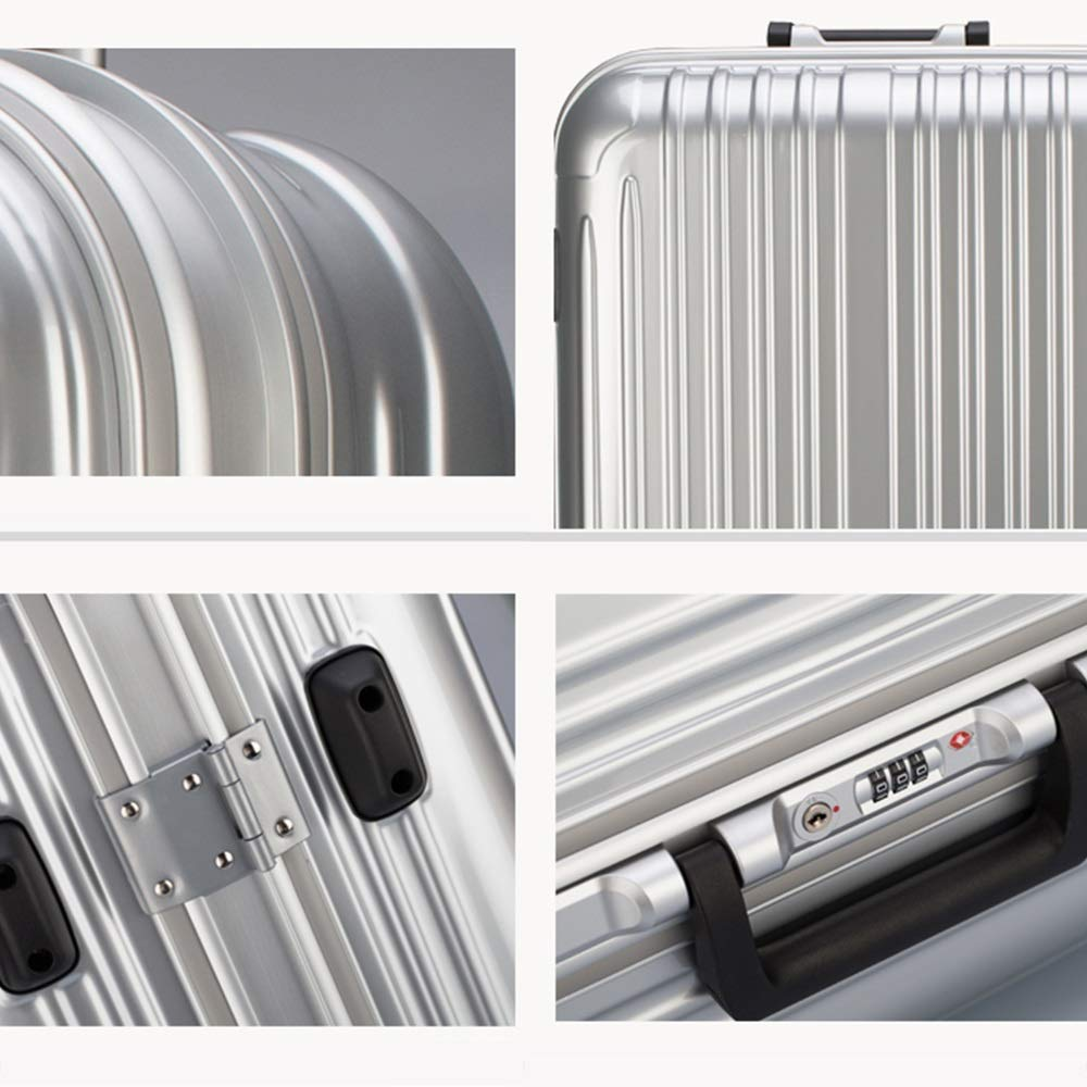XF Luggage Sets Trolley Case Luggage Aluminum Frame Female Password Box Trolley Case Universal Wheel Suitcase Male Boarding Box Five Colors Optional Luggage /& Travel Gear