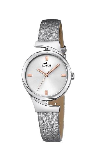 Lotus Reloj Mujer de Analogico con Correa en Cuero 18342/1: Lotus: Amazon.es: Relojes