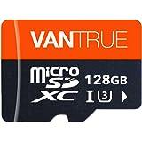 Vantrue 128GB U3 V30 Class 10 MicroSDXC UHS-I 4K UHD Video Monitoring Memory Card with Adapter for Dash Cams, Body Cams…
