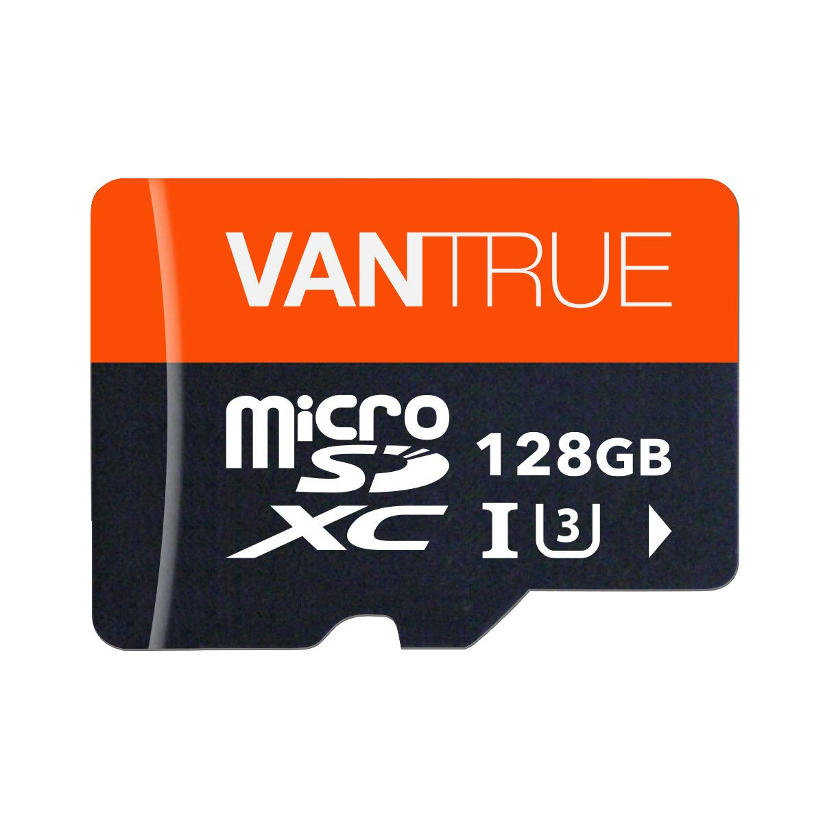 Vantrue 128GB U3 V30 Class 10 MicroSDXC UHS-I 4K UHD Video Monitoring Memory Card with Adapter for Dash Cams, Body Cams, Action Camera, Other Surveillance & Security Cams by VANTRUE