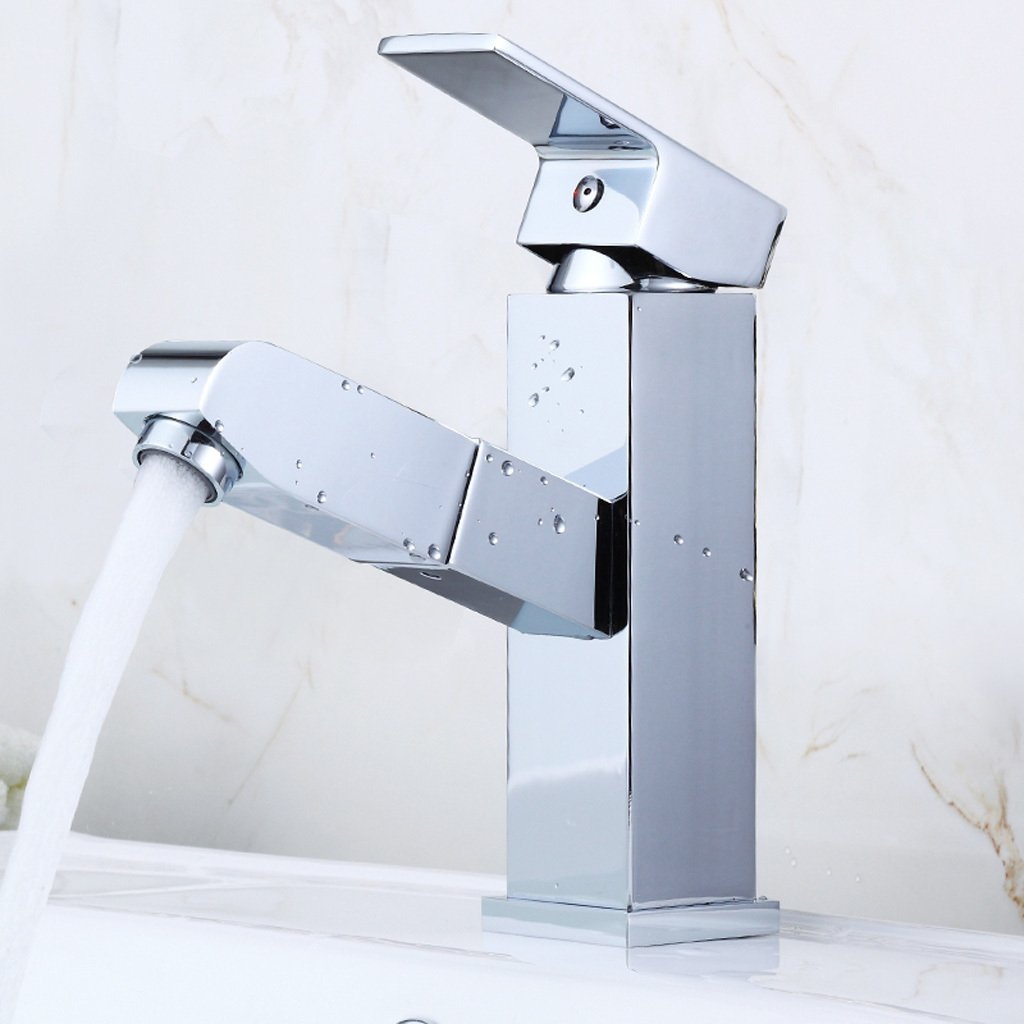 Pull-out DLewiee All Copper Faucet Hot And Cold Basin Taps Bathroom Basin Wash Basin Dragon Universal redation May Pull-Out Faucet