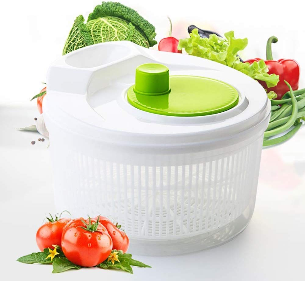Aich Vegetable Salad Drainer Spinner Creative Household Manual Plastic Drain Basket Fruit Salad Quick Drain Dehydrator Dryer by Aich