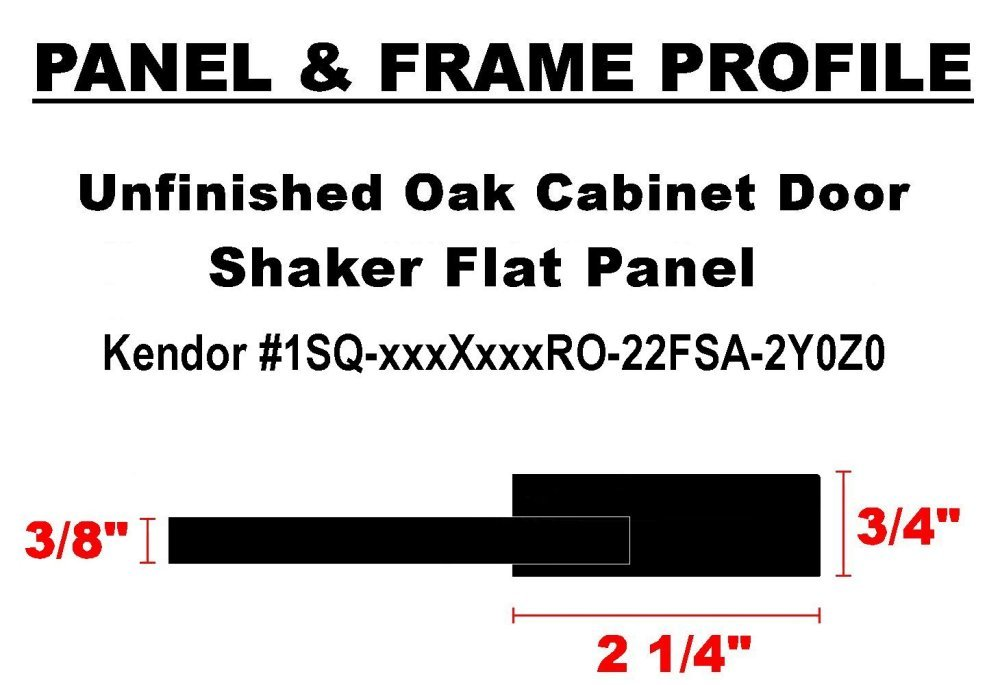 14H x 18W Unfinished Shaker Cabinet Doors in MDF by Kendor