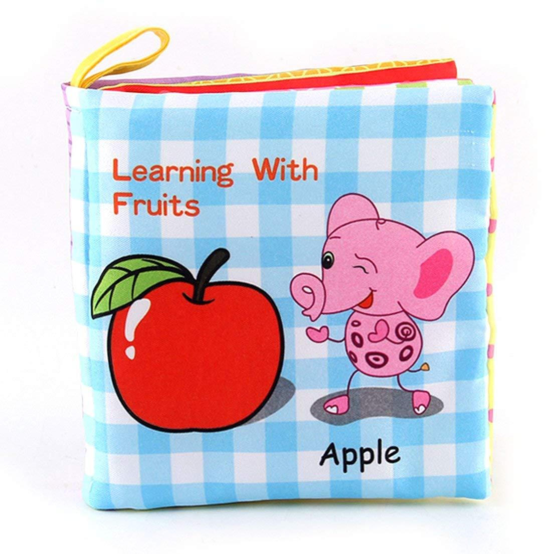 Baby Shower Bath English Cartoon Animal Cloth Book Juegos educativos tempranos Juguete Navidad Regalos de cumplea/ños para ni/ños Ni/ños DFHJSXD