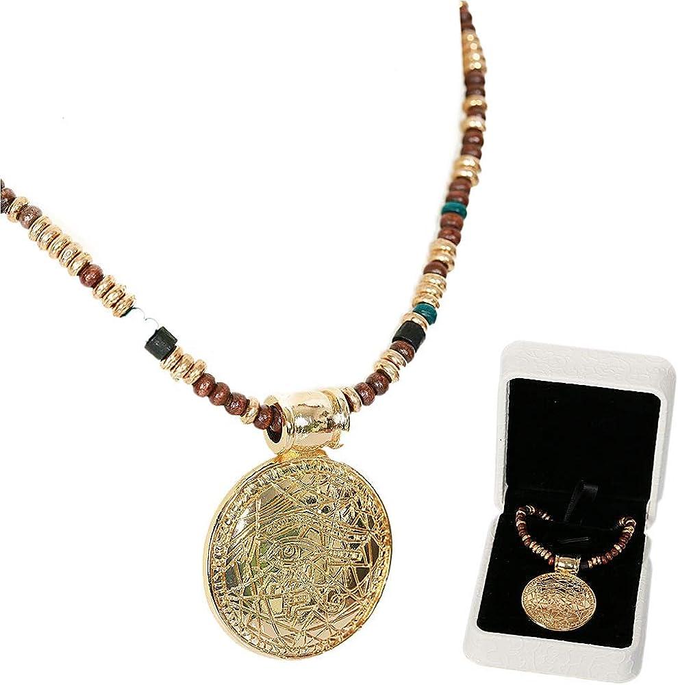 Stargate Origins Cosplay RA Golden Nacklace Pendant Costume Prop Gift Box Xcoser