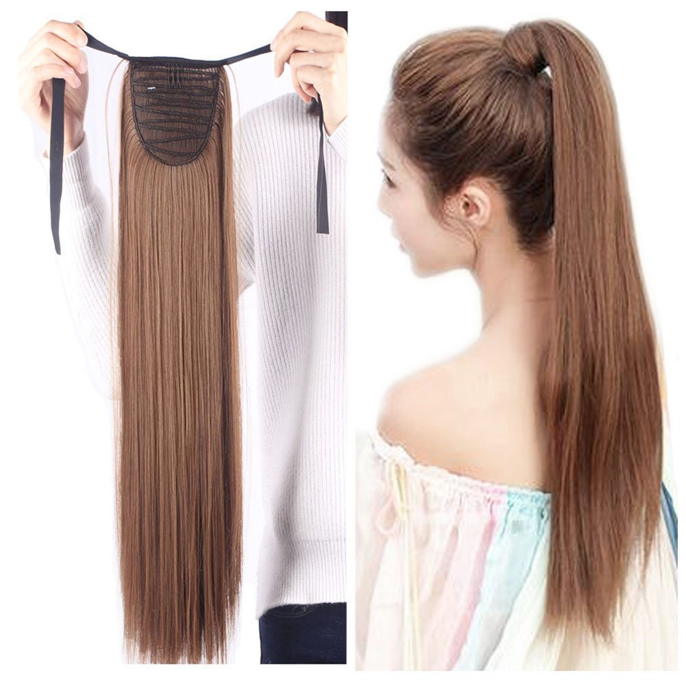 Amazon Drawstring Ponytail Extensions Tie Up Ponytail Clip In