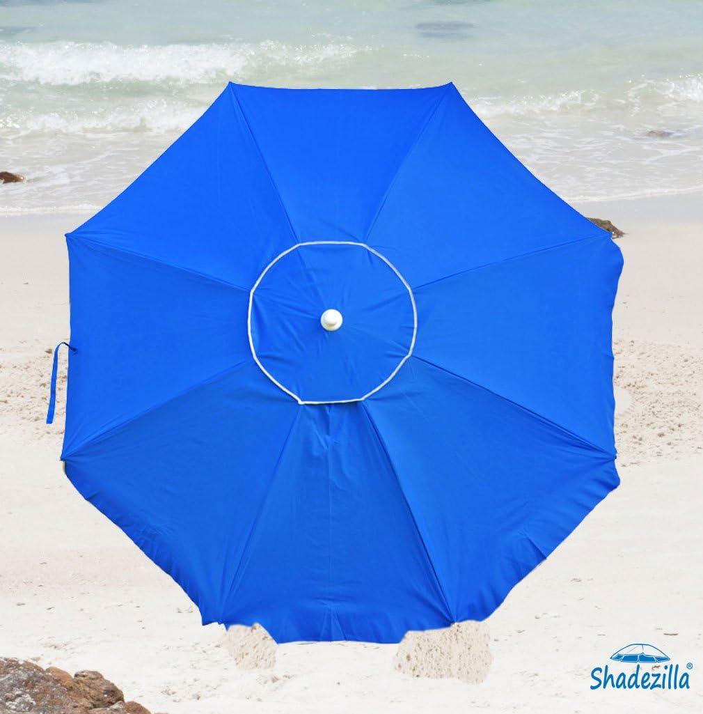 Platinum 6.5 ft Polyester 100 UPF Beach Umbrella with Vent u0026 Tilt  sc 1 st  Amazon.com & Amazon.com: Shadezilla