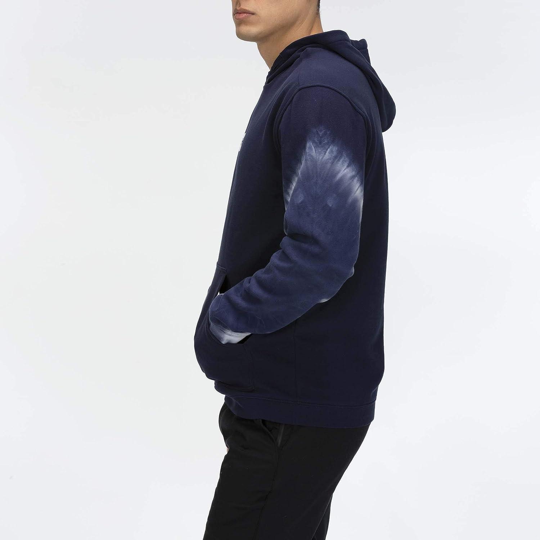 Hurley Mens Lincoln Dip Dye Fleece Pullover Hoodie