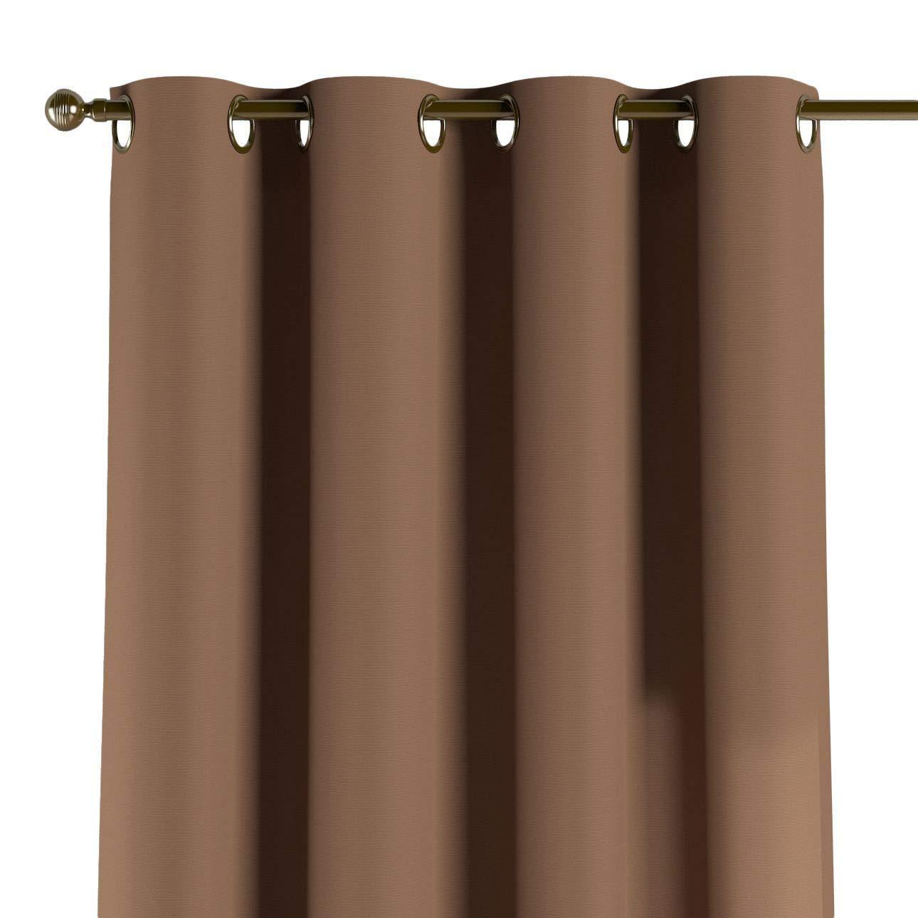 Dekoria Ösenschal Dekoschal Blickdicht 1 Stck. 130 × 260 cm Mocca Maßanfertigung möglich
