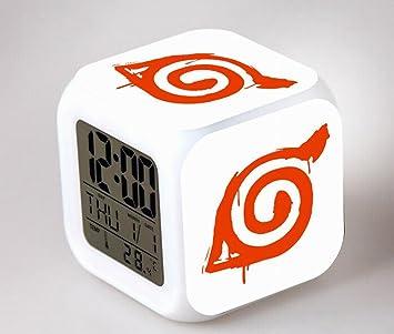 COOLNN de Naruto Anime Reloj Despertador Dibujos Animados Creativa Colorido Reloj Despertador para niños Despertador Digital Despertador analógico ...