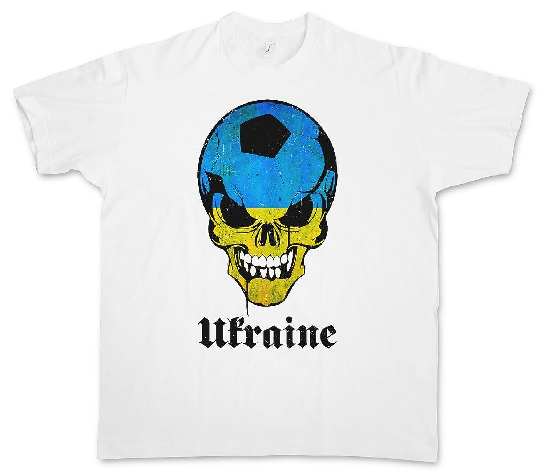 Amazon.com: CLASSIC UKRAINE FOOTBALL SOCCER SKULL FLAG T ...
