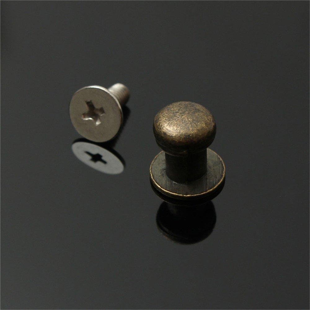 Fjiujin,15pcs Mini bo/îte /à Bijoux Coffre Cas tiroir Armoire Porte Tirer poign/ée en m/étal Bouton Color:Argent