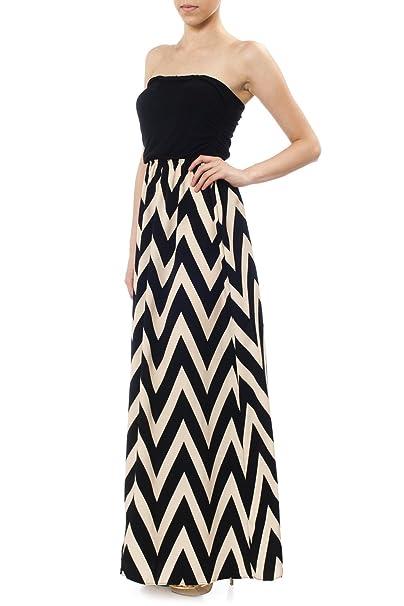 URBAN K Womens Plus Size Flowy Chevron Printed Sleeveless ...
