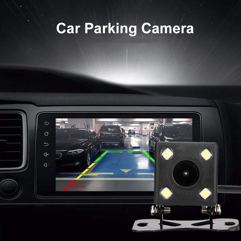 Fydun Car Camera IP67 Waterproof 4 LED Light Rear View Camera Night Vision Wide Angle Car Parking Assistance