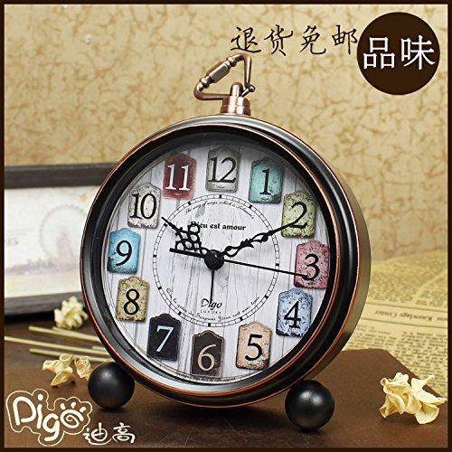 Reloj alarma de cabecera retro metal color silencio creative reloj reloj digital dormitorio estudiantil,un clásico de 5 pulg.: Amazon.es: Hogar