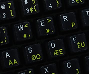 Qwerty Keys Pegatinas Teclado Dvorak Programador ...