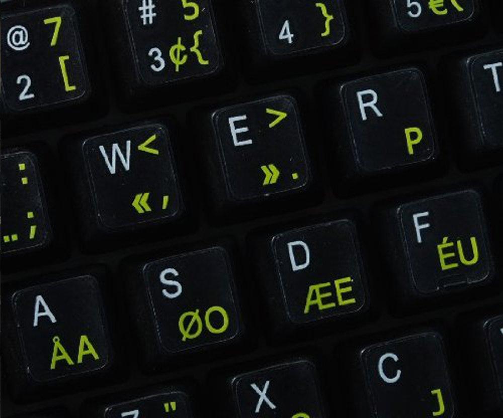 Pegatinas teclado Dvorak Programador transparentes con letras AMARILLAS: Amazon.es: Electrónica