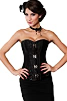 Saphira lingerie. Brocade Steampunk Corset with Clasp Fasteners