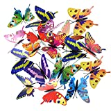 Austor Garden Decor 36 PCS 8CM Butterfly Stakes Party Supplies Decorations Patio Ornaments for Outdoor Yard