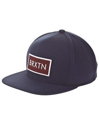 be453c1a29 Brixton Men's Cap Rift Rift Snap Cap Black Black