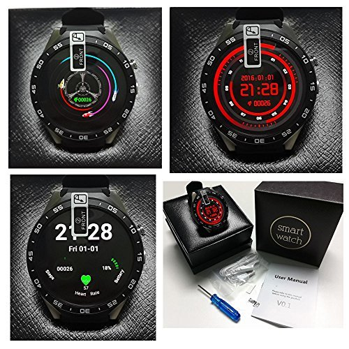 a2dbf891f FunLife Bluetooth Smartwatch Phone KW88 MT6580 Quad Core 1.39 inch Amoled  OGS Screen 3G Calling Pedometer Heart Rate Monitor 5.0MP RC Camera GPS WiFi  ...