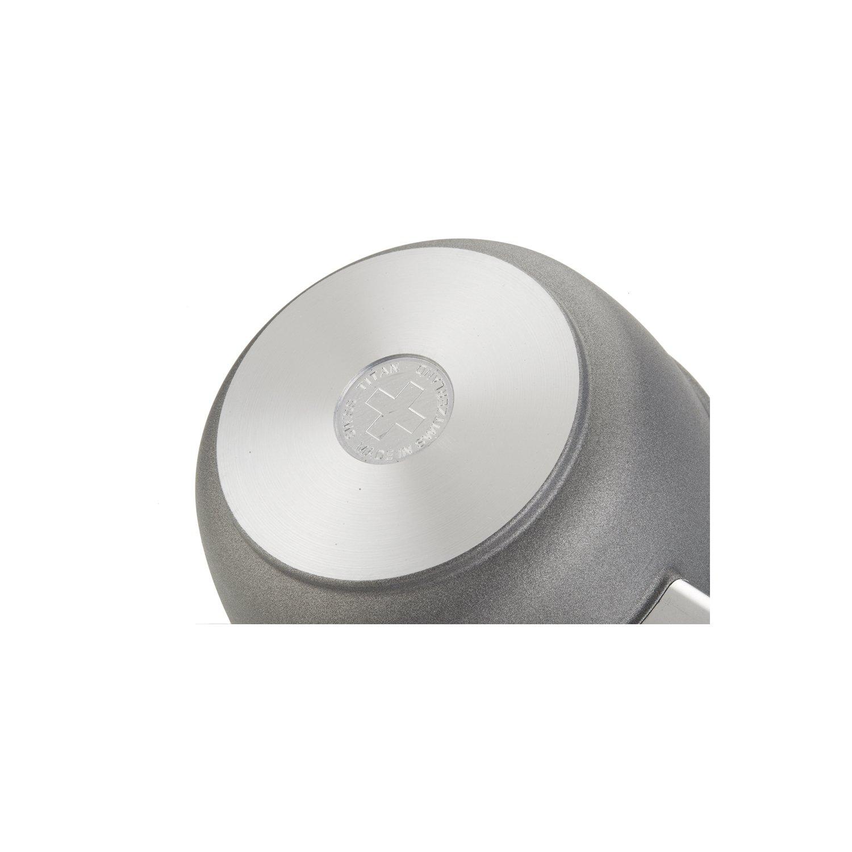 Swiss Diamond ST6716c Swiss Titan 1.4 quart Sauce Pan with Lid 6.25 6.25 Gray