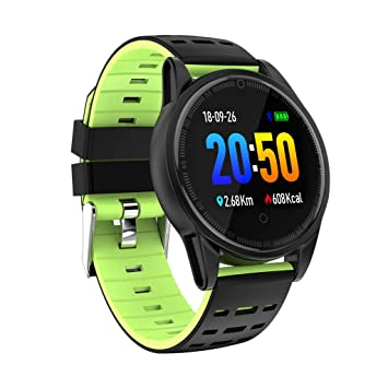 QinMM Smart Watch Bluetooth Smartwatch Compatible con iOS y ...