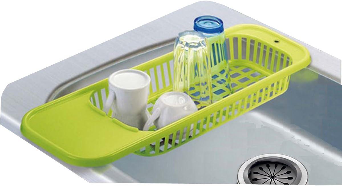 Escurreplatos fregadero de más de la gran tamaño plástico verde