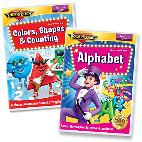 - Preschool Skills DVD Set - Alphabet, Printing Letters, Colors, Mixing Colors, Shapes (Basic & Advanced), Counting to 20, and More