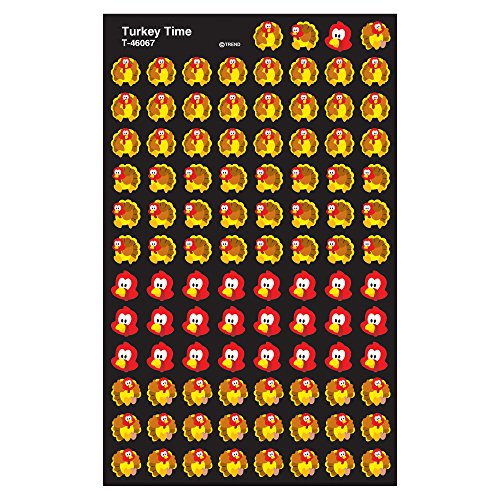 TREND enterprises, Inc. Turkey Time superShapes Stickers, 800 - Time Turkey