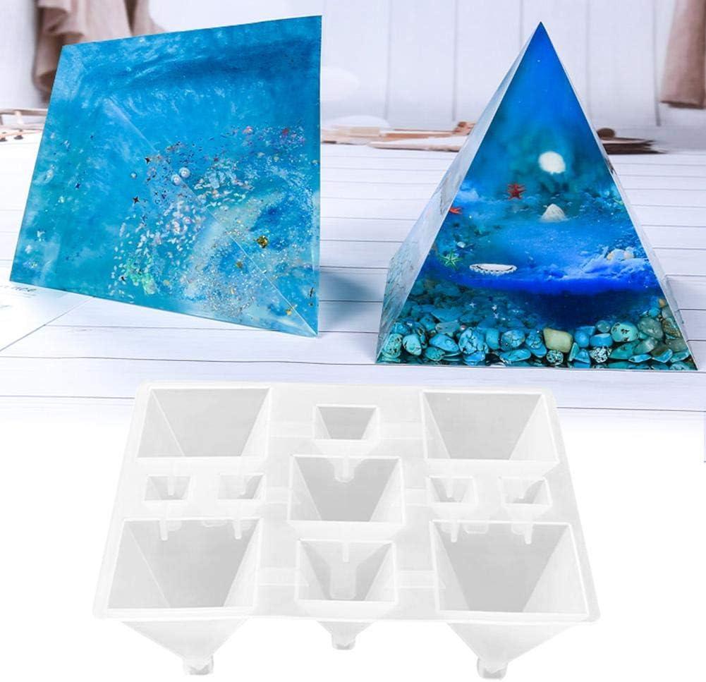 Bulary Translucence Molds Environmental Durable DIY Silicone Mirror Conical Mold Pyramid Shape