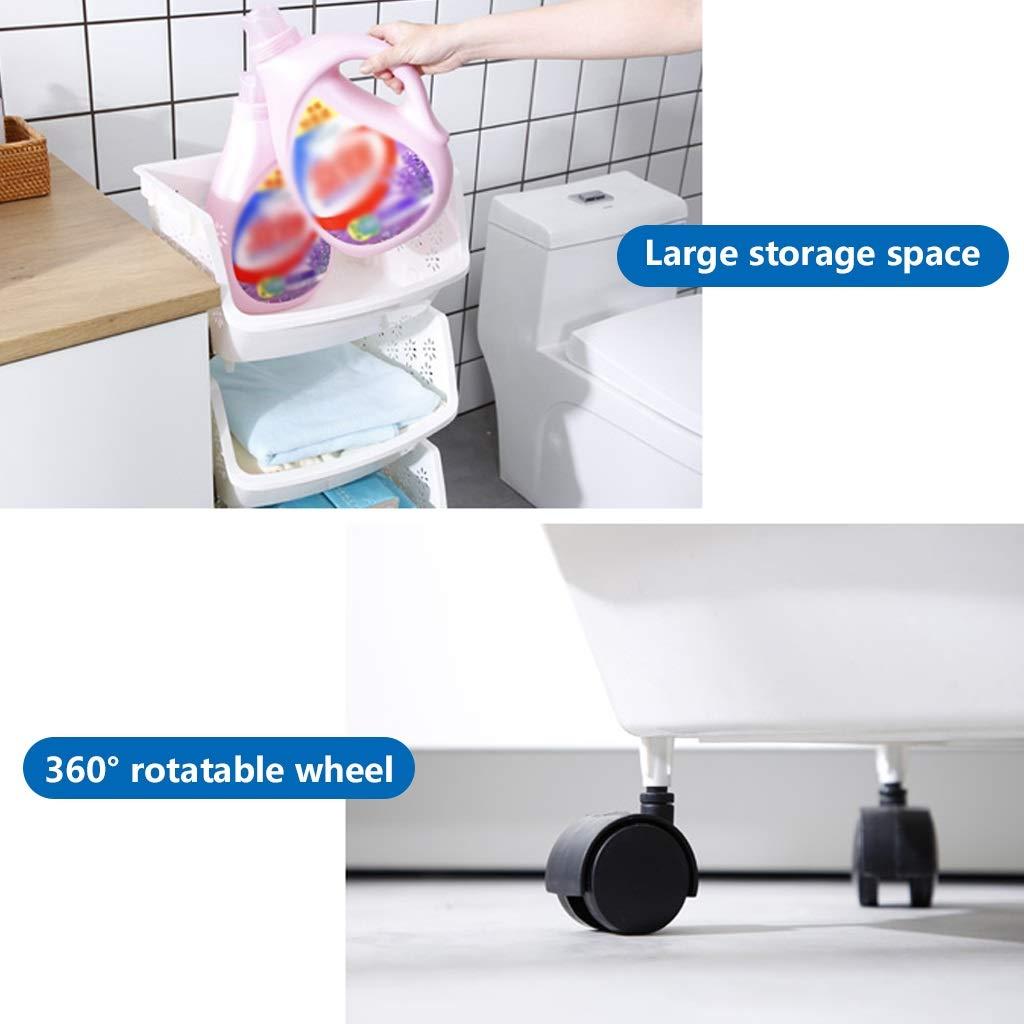 YANQING Cesta organizadora apilable de 5 Niveles para baño y ...