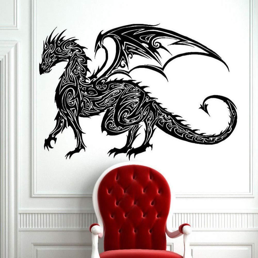 yuandp Tatuaje Tribal clásico dragón Chino calcomanía Etiqueta de ...