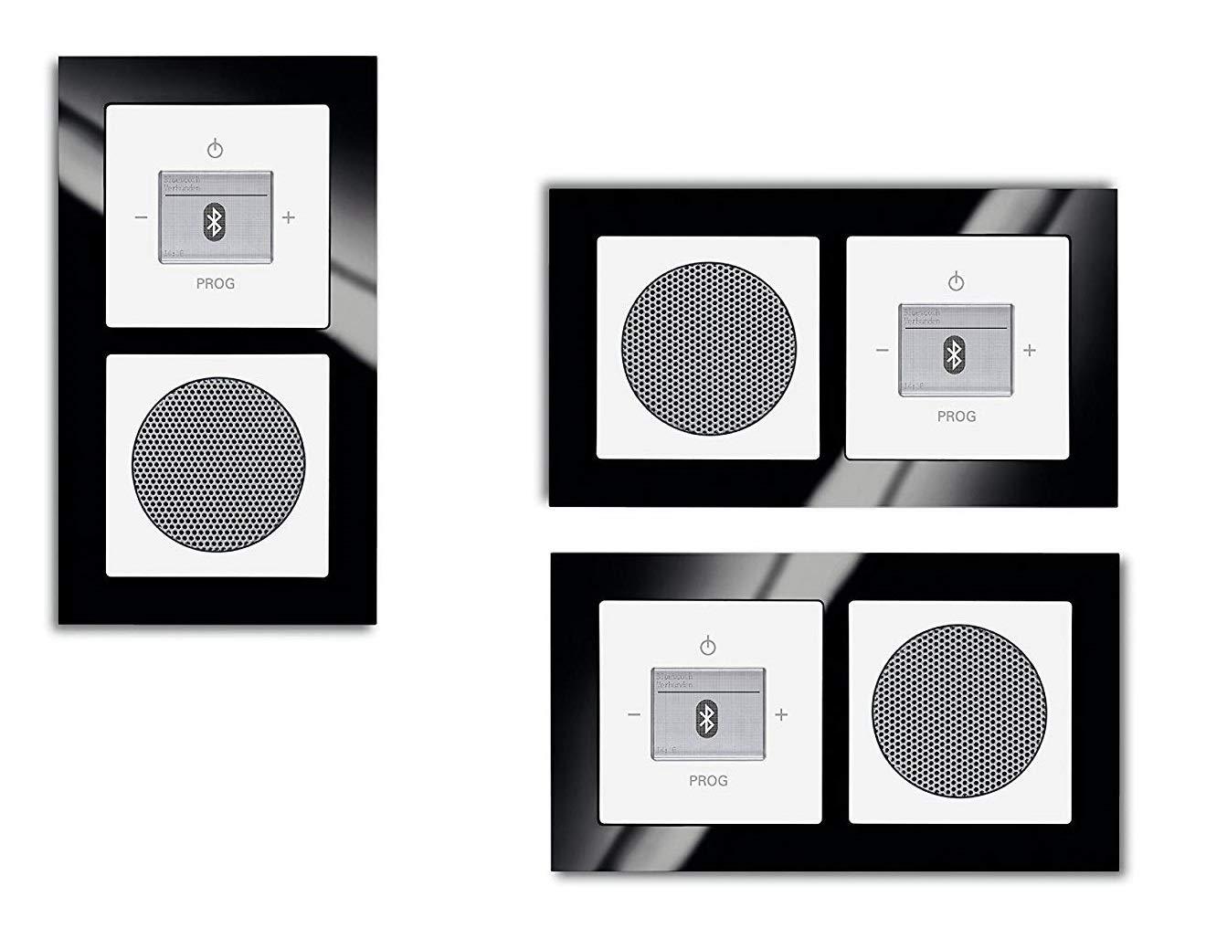 unique Cadre 2/voies 1722 Cadre en verre 825/+ Plaques de recouvrement Haut-parleur Future Linear Studio Blanc////Radio Noir Busch-J/äger encastr/é Bluetooth Radio 8217/U 8217u