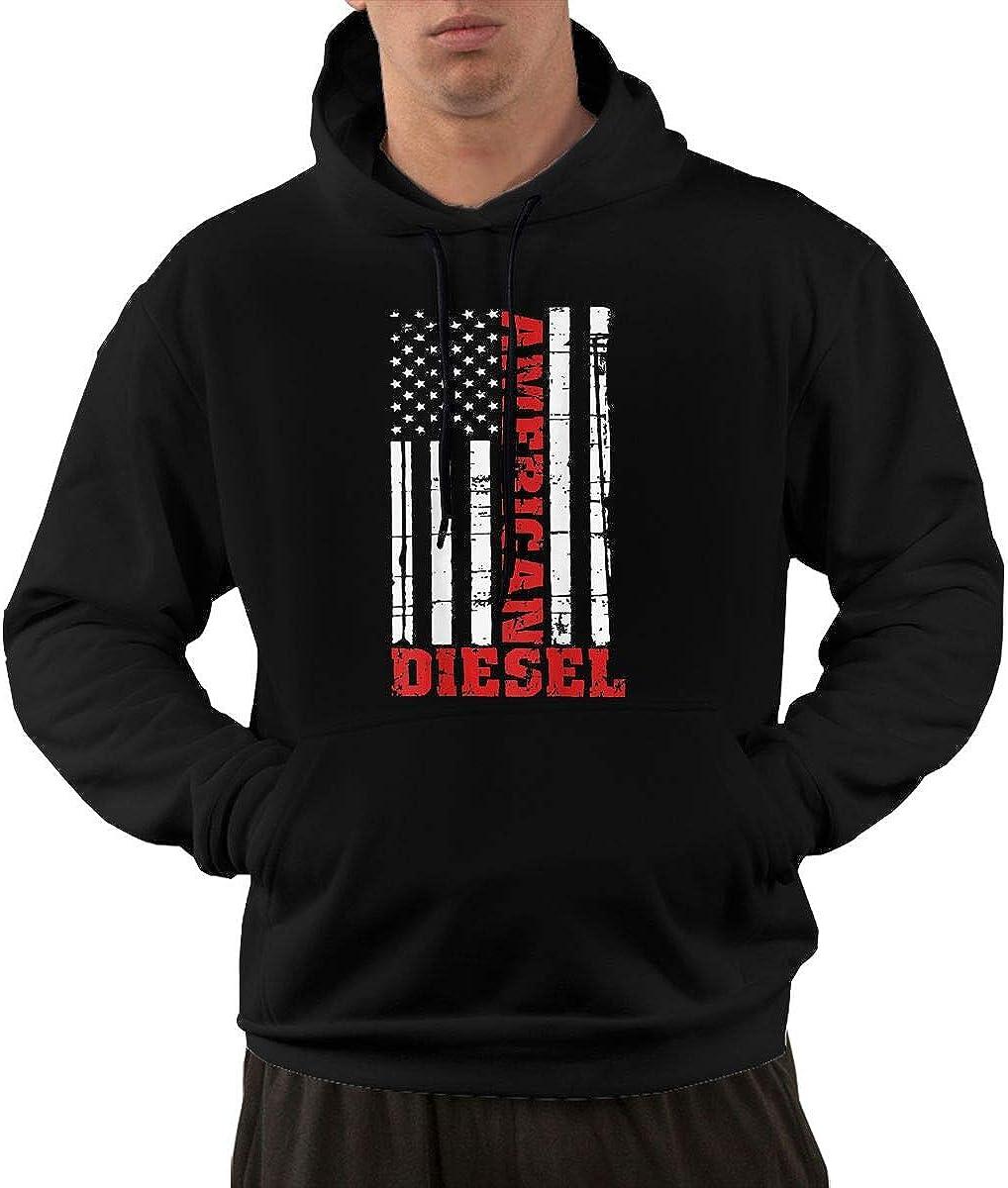 American Diesel Flag Truck Turbo Brothers Mens Sweatshirt Hoodie Comfort Hoodies